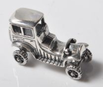 VINTAGE STYLE .925 SILVER ORNAMENT IN THE FORM OF A CAR