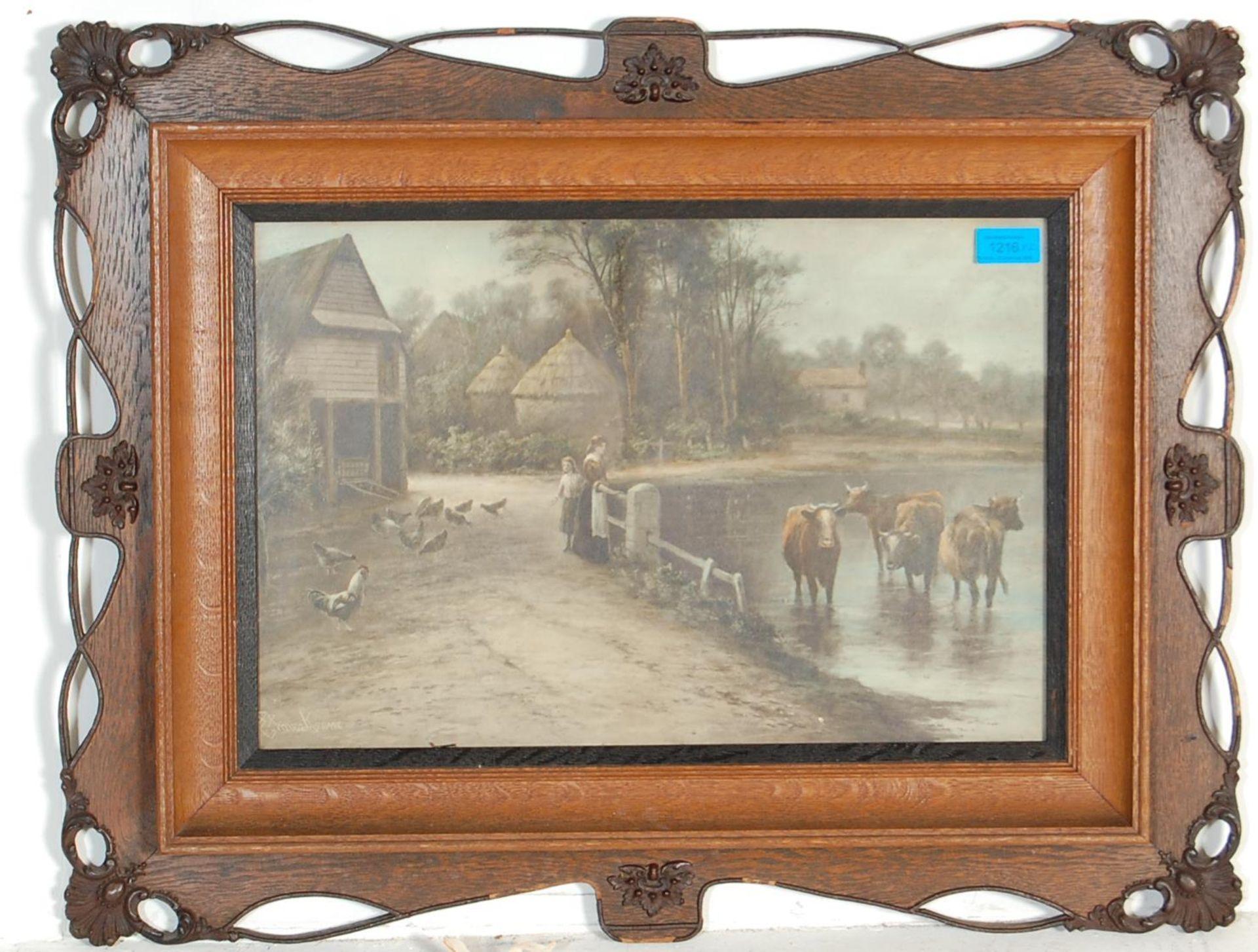AFTER EZRA ELMER KEENE ( 1853 - 1929 ) A PAIR OF PRINTS / LITHOGRAPHS - Bild 2 aus 7