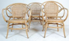 FIVE VINTAGE RETRO BENT BAMBOO CONSERVATORY CHAIRS