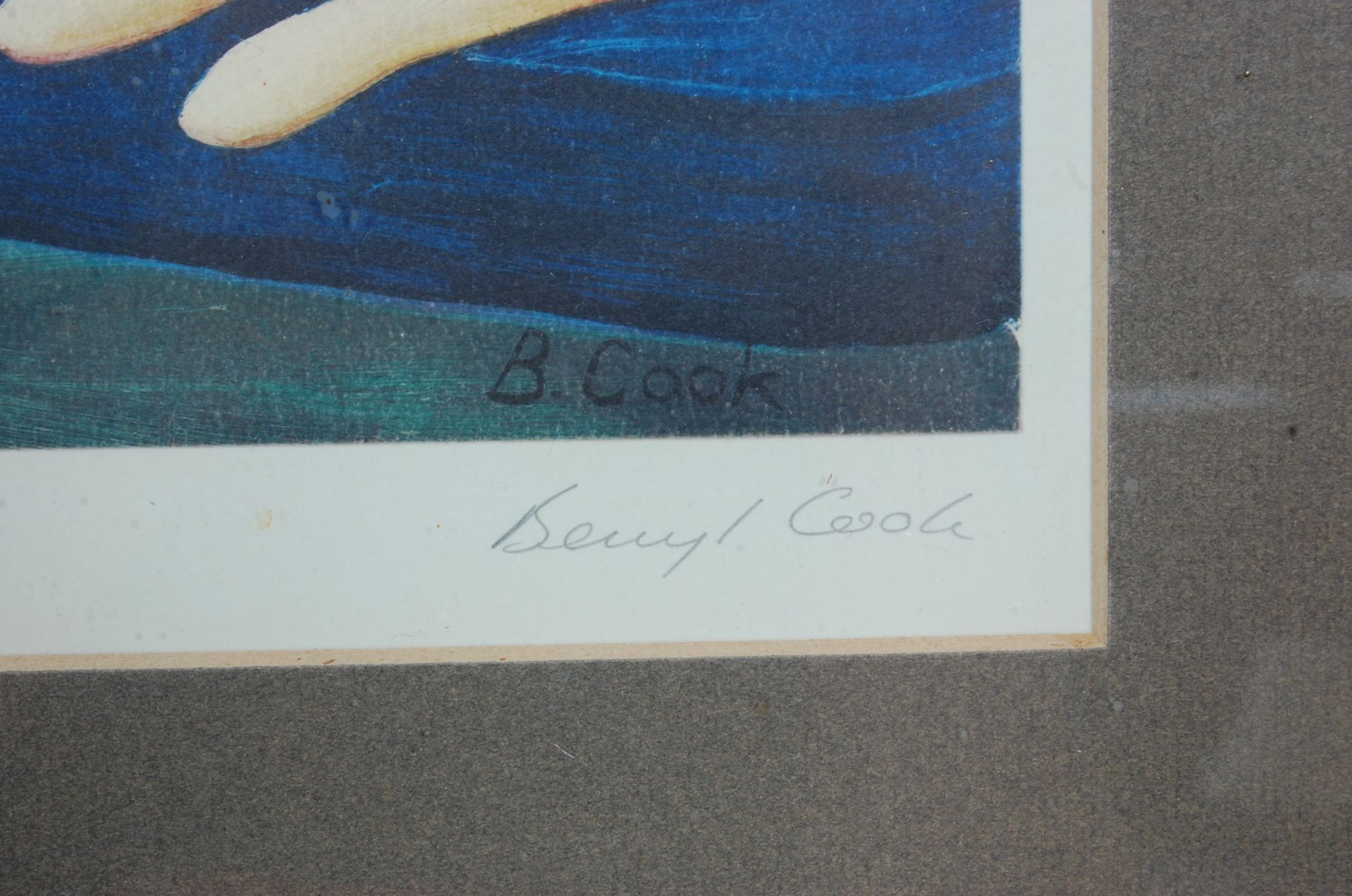 BERYL COOK ' FOUR HUNGRY CATS ' SIGNED LITHOGRAPH PRINT - Bild 3 aus 5