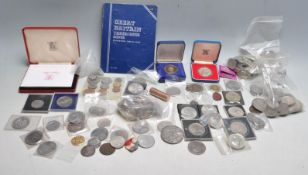 LARGE COLLECTION OF 20TH CENTURY UK CURRENCY AND COMMORATIVE COINS