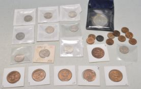 GROUP OF GREAT BRITISH COINS INCLUDING SILVER SHILLINGS