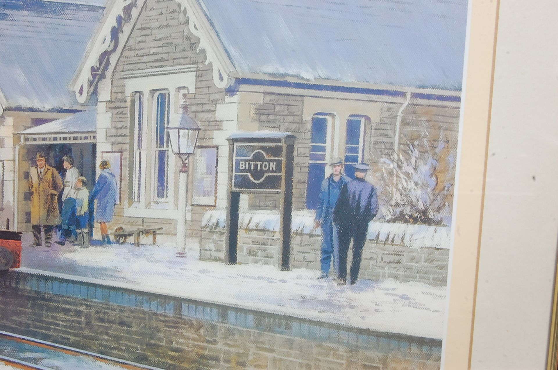 RAILWAY INTEREST - STEAMING THROUGH THE SNOW AT BITTON - LTD ED PRINT - Bild 3 aus 9