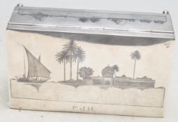 EARLY 20TH CENTURY MIDDLE ESTERN SILVER CIGARETTE BOX