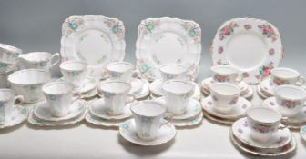 TWO VINTAGE 20TH CENTURY TEA SETS BY COLCLUGH AND