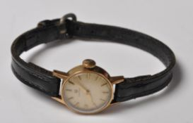 ORIGINAL 1960'S OMEGA COCKTAIL WRISTWATCH WITH 9CT GOLD CASE