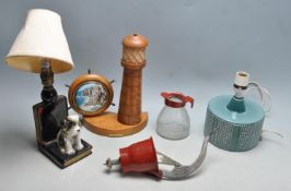 GROUP THREE OF VINTAGE TABLE LAMPS