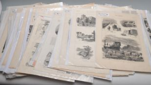 COLLECTION OF VICTORIAN ILLUSTRATED NEWSPAPER PAGES