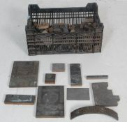 LARGE COLLECTION OF EARLY 20TH CENTURY AND LATER HARDWOOD PRINTERS BLOCKS