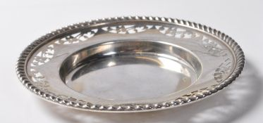 MID CENTURY CANADIAN SILVER PIN DISH