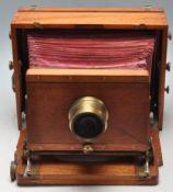 VICTORIAN 19TH CENTURY INSTANTOGRAPH 1893 FIELD CAMERA BY J LANCASTER & SON OF BIRMINGHAM