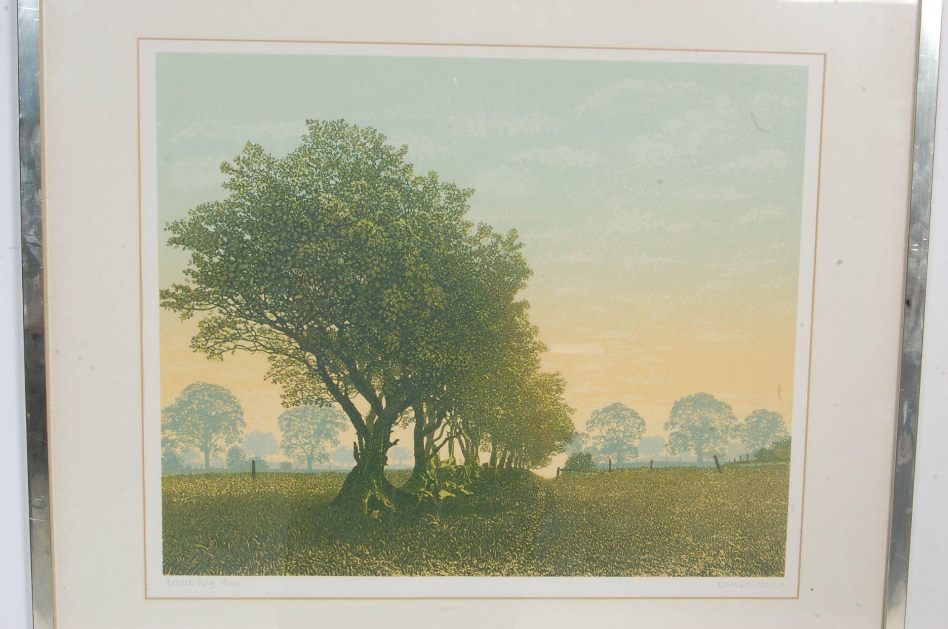 SIGNED LITHOGRAPH PLEINT BY KENNETH LEECH - BRIDLE WAY - Bild 2 aus 8