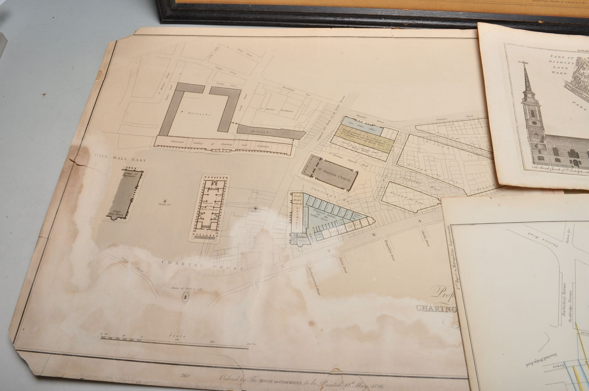 COLLECTION OF ANTIQUE LONDON RELATED MAPS & PLANS - Bild 2 aus 10