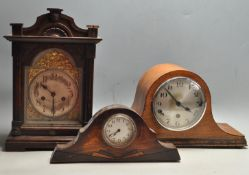 COLLECTION OF THREE EARLY 20TH CENTURY MANTEL CLOCKS