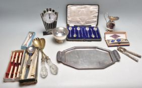 COLLECTION OF VINTAGE RETRO SILVER PLATED TABLE WARE