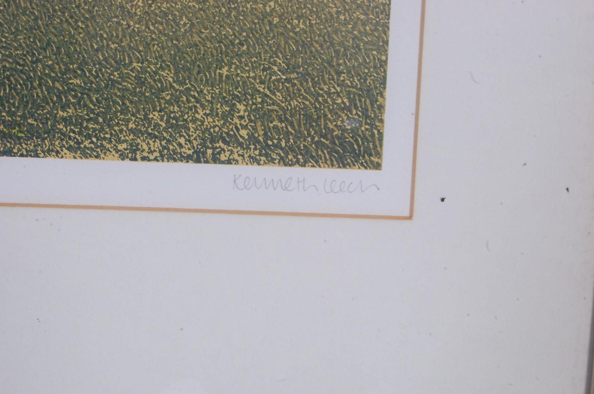 SIGNED LITHOGRAPH PLEINT BY KENNETH LEECH - BRIDLE WAY - Bild 7 aus 8