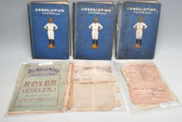 ASSOCIATION FOOTBALL & THE MEN WHO MADE IT - 3 VOLUMES