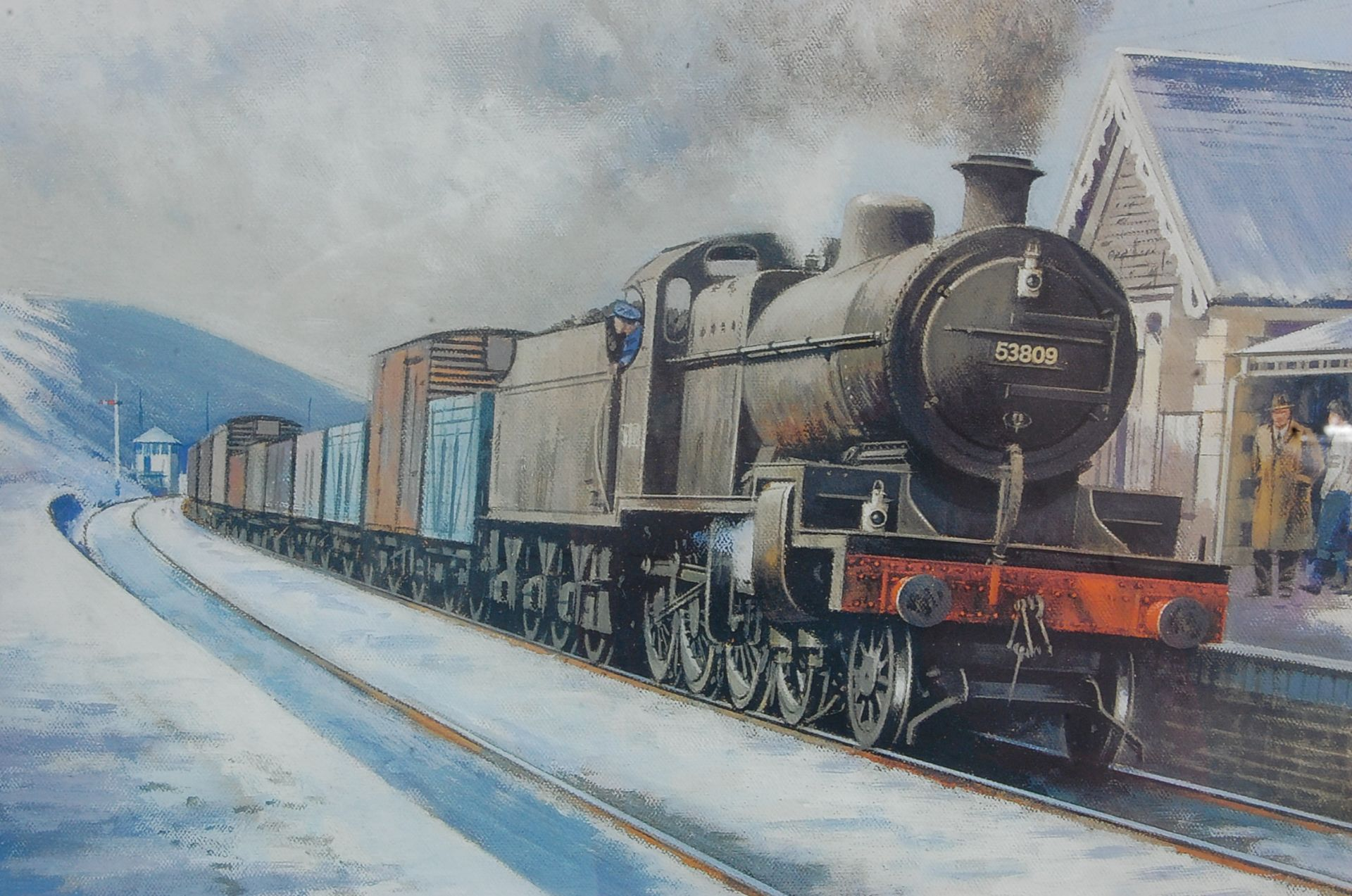 RAILWAY INTEREST - STEAMING THROUGH THE SNOW AT BITTON - LTD ED PRINT - Bild 5 aus 9