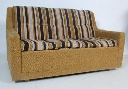 RETRO VINTAGE 1970S SOFA BED IN PERIOD FABRIC