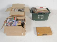 "LARGE COLLECTION OF 12"" RECORS, CASSETTES, CD'S AND DVD'S"