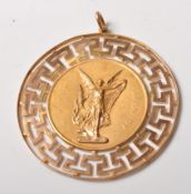 14 CT GOLD NECKLACE PENDANT OF A GREEK GODDESS