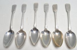 SIX 19TH CENTURY ANTIQUE FIDDLE PATTERN SPOONS