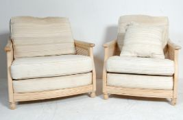 TWO CONTEMPORARY ERCOL WINDSOR RANGE ARMCHAIRS