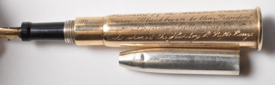 ANTIQUE GOLD AND SILVER RIFLE PRESENTATION PEN