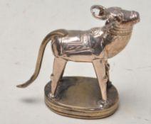 ANTIQUE INDIAN HISTORY INTEREST PRISONER MADE COW FIGURINE