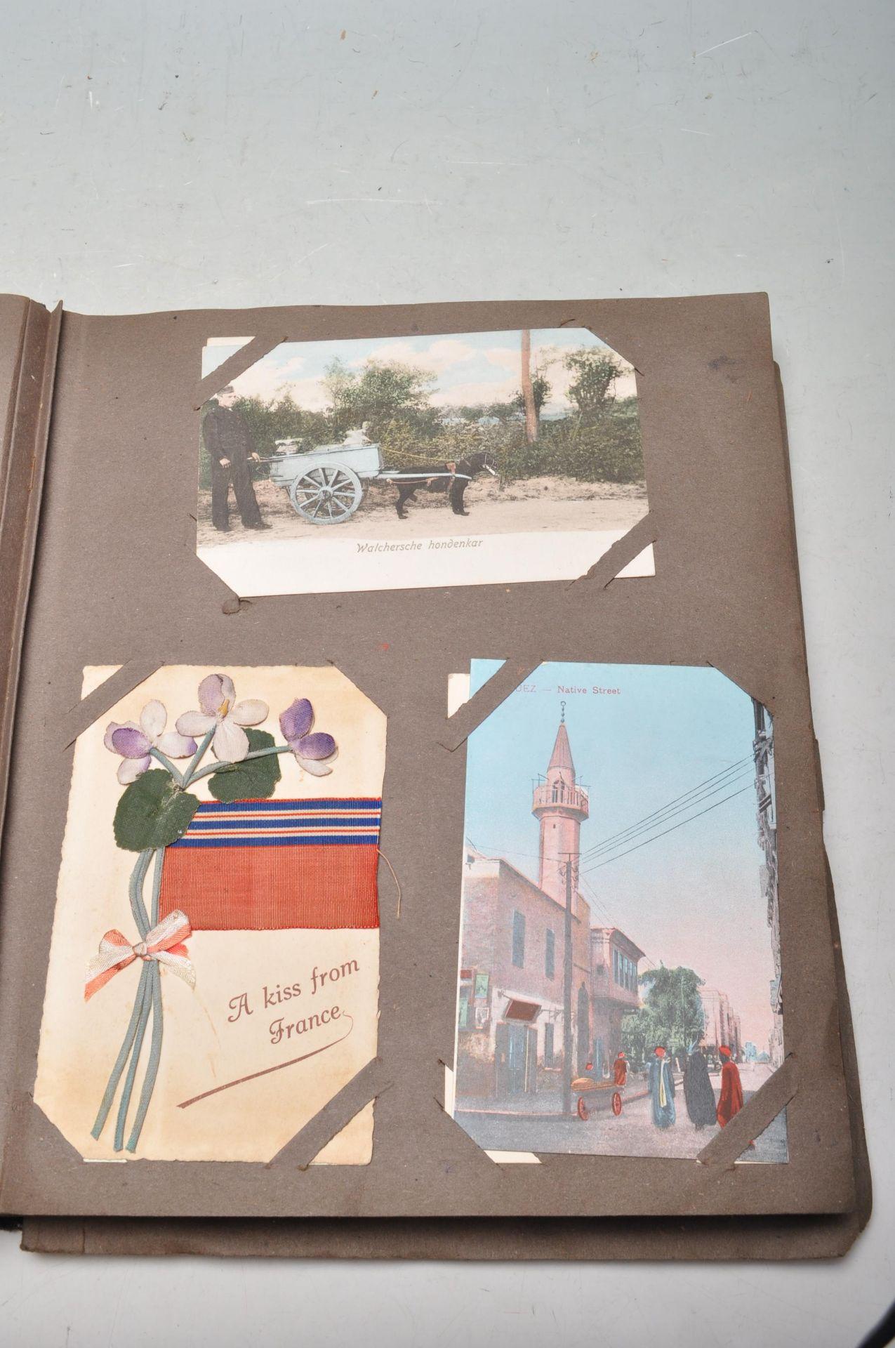 ALBUM OF FOREIGN POSTCARDS - ALL CIRCA WW1 PERIOD - Bild 4 aus 23