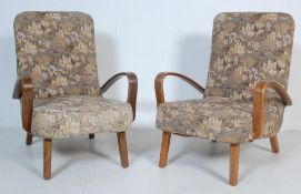 PAIR OF EARLY 20TH CENTURY ART DECO ARMCHAIRS