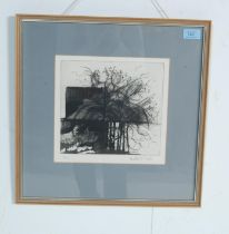 HEATHER FOSTER - ABSTRACT WINTER ROSE ETCHING