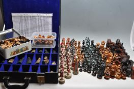 TEN SETS OF VINTAGE 20TH CENTURY CHESS PIECES