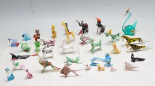 LARGE COLLECTION OF VINTAGE MURANO GLASS ANIMALS