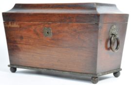 LARGE 19TH CENTURY GEORGIAN REGENCY TEA CADDY
