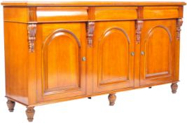 VICTORIAN ENGLISH REPRODUCTION MAHOGANY SIDEBOARD CREDENZA