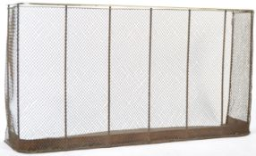 LARGE AND IMPRESSIVE MESH BRASS NURSERY FIRE FENDER