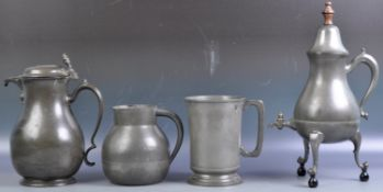 COLLECTION OF ANTIQUE PEWTER ITEMS
