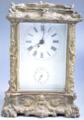 DECORATIVE 20TH CENTURY BRONZE CASED CARRIAGE CLOCK