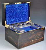ASPREYS OF LONDON 19TH CENTURY COROMANDEL VANITY BOX