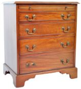 19TH CENTURY GEORGIAN BACHELORS MAHOGANY CHEST OF DRAWERS