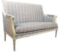 ANTIQUE 19TH CENTURY FRENCH SALON TWO SEATER SOFA