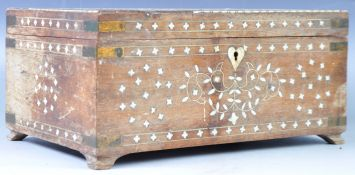 19TH CENTURY INDIAN ANTIQUE SANDAL WOOD IVORY BOX