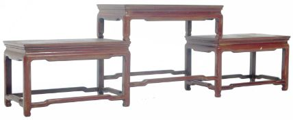 ANTIQUE CHINESE ZITAN WOOD THREE TIER STAND
