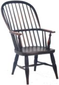 19TH CENTURY GEORGIAN OAK AND ELM WINDSOR ARMCHAIR