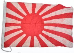 WWII INTERST - VINTAGE JAPANESE RISING SUN FLAG