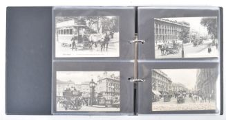 EDWARDIAN POSTCARDS - CARRIAGES, TRAMS & OMNIBUSES