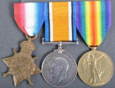 WWI FIRST WORLD WAR MEDAL TRIO - GLOUCESTERSHIRE REGIMENT
