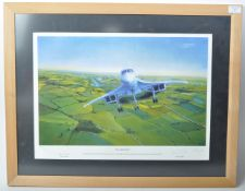 CONCORDE - ' 002 AIRBORNE ' LIMITED EDITION AUTOGRAPHED PRINT