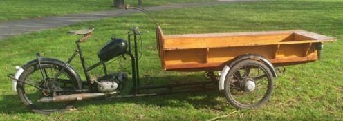 RARE 1958 DUTCH GAZELLE COMMERICAL DELIVERY TRICYCLE